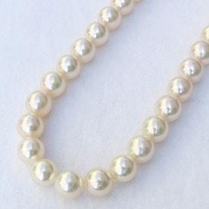 真珠:パール:あこや本真珠ネックレス:パールネックレス:クリームピンク系:7.0mm-7.5mm:アコヤ本真珠:チョーカー