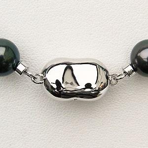 真珠 パール ネックレス ブラックパール 黒真珠 ネックレス タヒチ黒蝶真珠