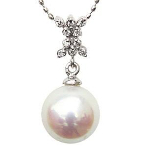 【高額売筋】 ペンダント ペンダント あこや真珠パール あこや真珠パール K18WG ホワイトゴールドネックレス ダイヤモンド ダイヤモンド ジュエリー, YouNewShop:785e310f --- frauenfreiraum.de