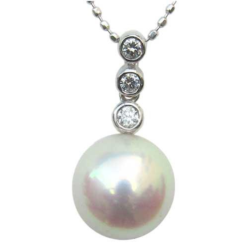 【破格値下げ】 ネックレスペンダント あこや真珠 ホワイトゴールド ネックレス ダイヤモンド ジュエリー, チチブシ:38dd3ad5 --- frauenfreiraum.de