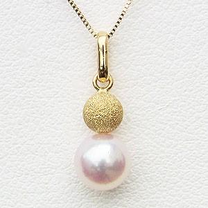 ネックレス あこや真珠パール K18ゴールド ペンダント パーティー 6月誕生石