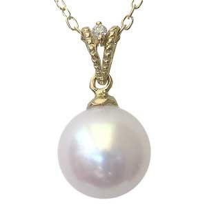 熱い販売 パールペンダントトップ 真珠パール あこや本真珠 ピンクホワイト系 ゴールド 1石 径8mm ダイヤモンド 1石 K18 計0.01ct K18 ゴールド ペンダント, ギフトショップみわ:4b219e28 --- frauenfreiraum.de