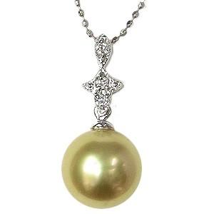 最新デザインの 真珠 K18WG パール ペンダントトップ 南洋白蝶真珠 ゴールデンパール ペンダントヘッド 真珠 K18WG 南洋白蝶真珠 ホワイトゴールド ダイヤモンド, ディーショップワン:a00edfec --- chevron9.de
