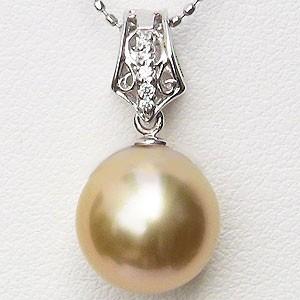 完璧 真珠 ゴールデンパール 10mm 南洋白蝶真珠 南洋白蝶真珠 10mm ペンダントトップ(ヘッド) 真珠 ホワイトゴールド, トダシ:4558f10d --- chevron9.de