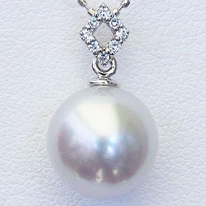 一番の 真珠 パール 南洋白蝶真珠 南洋白蝶真珠 真珠 10mm 10mm ペンダントトップ ホワイトゴールド ダイヤモンド, アイラブスマート:3469f67d --- chevron9.de