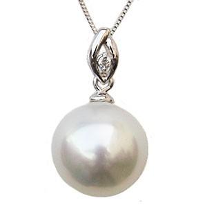 【最安値】 ホワイトパール K18 ペンダントトップ 真珠 0.01ct 10mm 真珠 南洋白蝶真珠 パール ダイヤモンド 0.01ct K18 ホワイトゴールド シンプル, オービター:1ab4491d --- chevron9.de