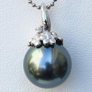 素敵な 真珠 真珠 パール ペンダントトップ 11mm タヒチ黒蝶真珠 タヒチ黒蝶真珠 11mm フラワー(花)モチーフ, メンズビジネスシューズグラインド:2dd342d5 --- chevron9.de