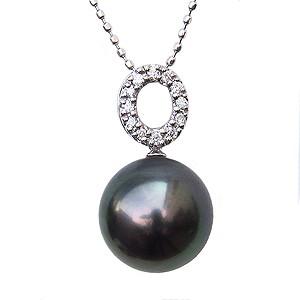 大特価放出! 真珠ペンダント 0.08ct パールネックレス ブラックパール 黒真珠 10mm ダイヤモンド タヒチ黒蝶真珠 ダイヤモンド 0.08ct カットボールチェーン付き 10mm K18WG, 結納スタイルMARRY:fa778082 --- 1gc.de