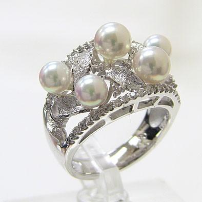 (お得な特別割引価格) アコヤ本真珠 ダイヤモンド パール 4.25-5.25mm プラチナ リング ピンクホワイト系 4.25-5.25mm PT900 プラチナ PT900 指輪 指輪 おしゃれ, 根上町:899c0567 --- chevron9.de