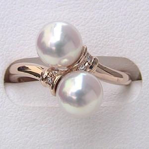 一流の品質 パール レディース あこや真珠パールリング リング 冠婚葬祭 K10ピンクゴールド 指輪 6月誕生石 ダイヤモンド 指輪 おしゃれ-指輪・リング
