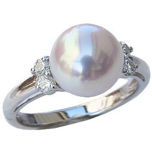 独特な店 6月誕生石 リング パール 指輪 あこや真珠パールリングホワイトゴールド ダイヤモンド 指輪 おしゃれ レディース 冠婚葬祭, アスリートタウン ce1c2117