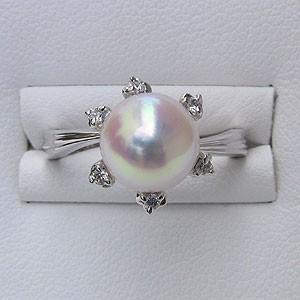 【高い素材】 リング 指輪 パール ダイヤモンド 指輪 おしゃれ あこや真珠パールリング K10ホワイトゴールド ダイヤモンド ジュエリー 指輪 おしゃれ レディース 冠婚葬祭, さんだるハウス:3f25da40 --- nak-bezirk-wiesbaden.de