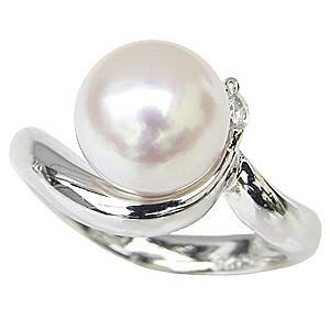 【国内即発送】 指輪 PT999 レディース ダイヤモンド0.05ct 冠婚葬祭 花珠あこや本真珠 真珠指輪 花珠真珠 リング 純プラチナ パールリング おしゃれ-指輪・リング