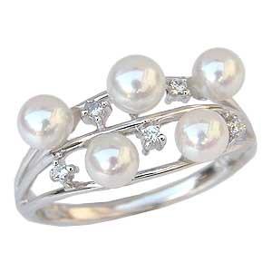 気質アップ 真珠 指輪 あこや本真珠 パール リング ダイヤモンド K18WG ホワイトゴールド 指輪 おしゃれ レディース 冠婚葬祭, ツールショップキカイヤ 252b0ce6
