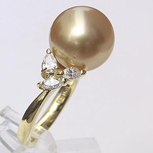 【新作からSALEアイテム等お得な商品満載】 南洋白蝶真珠 リング ダイヤモンド パール ゴールド系 12mm K18 ゴールド 指輪 指輪 おしゃれ, ヤマモトグン 5328b46f