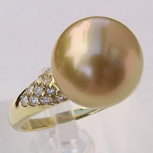 保障できる 真珠 12mm ゴールド系 リング リング 南洋白蝶真珠 ゴールド系 12mm K18, 五番街バッグ財布のお店:7bfb4bf4 --- pfoten-und-hufe.de