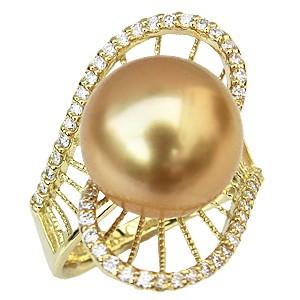【送料無料/即納】  パール リング 南洋真珠 ゴールド 12mm ゴールド K18 ゴールド K18 指輪 指輪 12mm おしゃれ, 鍵と防犯の専門店smile-security:e16e4e2c --- chevron9.de