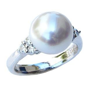 色々な 真珠 パール リング 南洋白蝶真珠 南洋白蝶真珠 ダイヤモンド ピンクホワイト系 ダイヤモンド 10mm 真珠 K18WG ホワイトゴールド, 未来アクアリウム:70bf6364 --- dorote.de