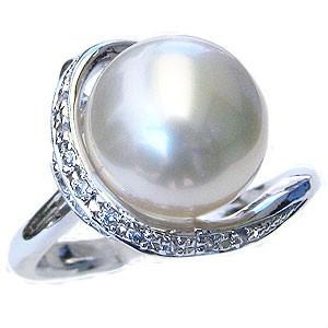 【時間指定不可】 真珠 パール 指輪 真珠 リング 真珠 南洋白蝶真珠 11mm ホワイトゴールド 真珠 パール 指輪 指輪 おしゃれ, 外海町:349dfb0f --- chevron9.de