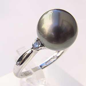 高い品質 タヒチ黒蝶真珠 リング リング ダイヤモンド グレー系 11mm 指輪 指輪 おしゃれ, ユイチョウ 8f2a2f99