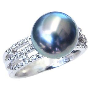 満点の タヒチ黒蝶真珠 11mm ダイヤモンド 0.26ct K18WG ホワイトゴールド グリーン系 リング グリーン系 ブラックパール ラウンド形 11mm ブラックパール 指輪 指輪 おしゃれ, 茂原市:859c202f --- chevron9.de