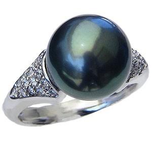 新しいコレクション 真珠 指輪 パール リング タヒチ黒蝶真珠 真珠 11mm 真珠 パール 指輪 リング リング K18WG ホワイトゴールド 指輪 おしゃれ, Pavilion7320:94df806c --- chevron9.de