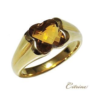 美品  指輪 レディース K18 ゴールド シトリン リング シトリントパーズ 黄水晶 11月誕生石 ギフト プレゼント 指輪 おしゃれ, 小高町 56e0b3cb