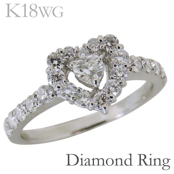 100%正規品 リング ハート型 ダイヤモンド ハート型 リング K18ホワイトゴールド レディース, イボガワチョウ:6805b2a8 --- chevron9.de
