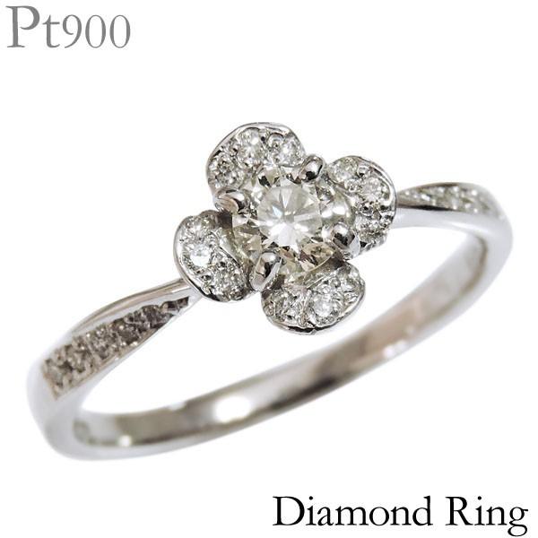 大特価 リング クローバー 指輪 指輪 フラワー クローバー パヴェ PT900プラチナ 0.32ct ダイヤモンド PT900プラチナ レディース, F-Factory:ccfc9437 --- chevron9.de