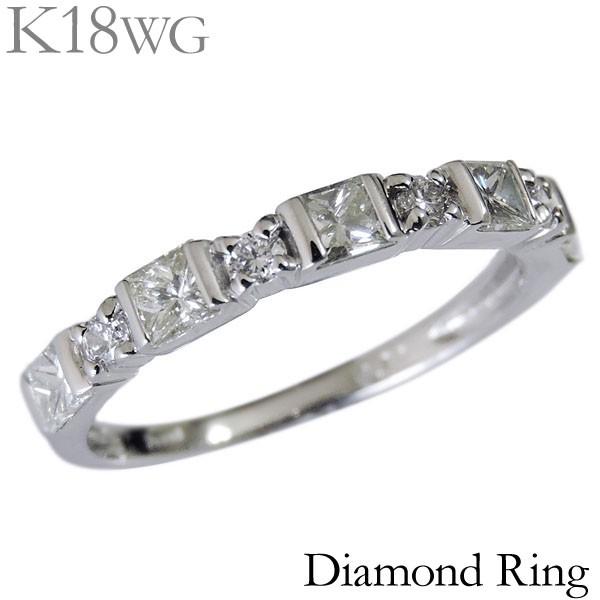 専門ショップ リング リング プリンセスカット 合計0.75ct ダイヤモンド 合計0.75ct K18ホワイトゴールド レディース diamond diamond ダイヤ, 岩出町:d5c8ac05 --- chevron9.de