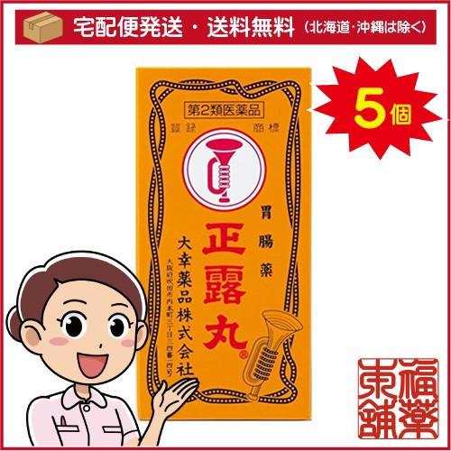 【ネット限定】 [宅配便・送料無料] 「T60」 【第2類医薬品】正露丸(100粒入)×5個-医薬品