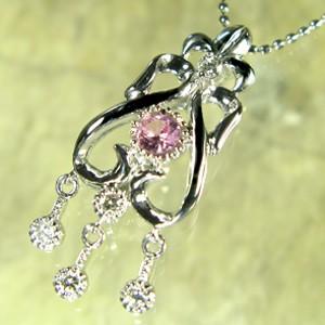 【税込】 ピンクサファイア・ペンダント・10金・ダイヤモンド, ポストアンティーク a8e54f1d