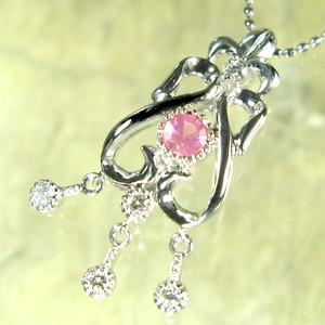 【返品不可】 ピンクスピネルペンダント アンティーク調 K10WGダイヤモンド付き ペンダント【K18 変更可能/】luxurious, ミサキマチ:2e9b1b9d --- chevron9.de