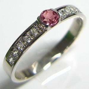 気質アップ 結婚指輪・ピンクトルマリン・リング・マリッジリング・プラチナ, カガミイシマチ c08890e3