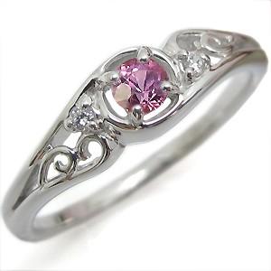 高品質の激安 ピンクサファイア・リング・一粒・アンティーク・K18・指輪-指輪・リング