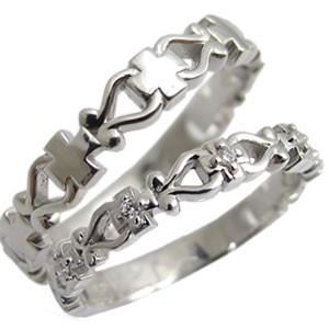 品質満点 天然石ダイヤモンド・ペアリング・2本セット・K18・クロス・リング・結婚指輪, 快適LIFE:09b24bea --- oeko-landbau-beratung.de