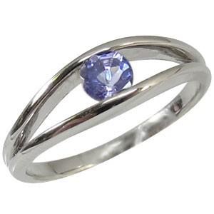 【超歓迎】 タンザナイト・ プラチナ・リング・一粒・指輪-指輪・リング
