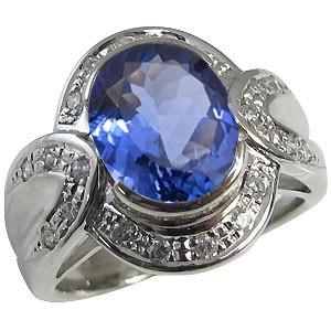 【本物保証】 大粒・タンザナイト・リング・ゴージャス・指輪・18金-指輪・リング