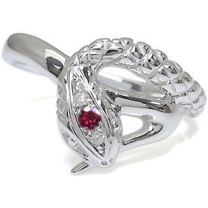 素晴らしい品質 プラチナ・リング・スネークリング・蛇・指輪・ルビー, WORLD WATCH MARKET QUANTA 8701158a