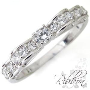 高級ブランド プラチナ・ダイヤモンド・指輪・リボン・リング・上品・指輪, 釣具のポイント 06e9412b
