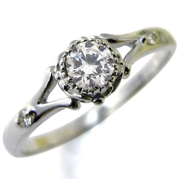 開店祝い 婚約指輪・18金・リング・鑑定書付き・ダイヤモンド・エンゲージリング-指輪・リング