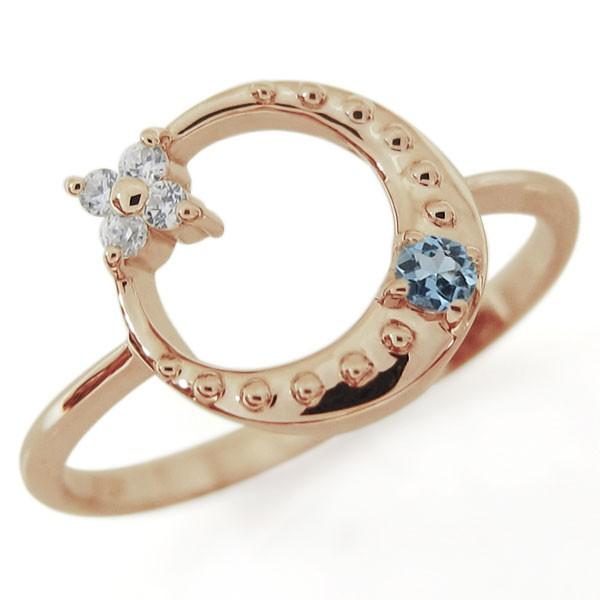 【最新入荷】 星・月・モチーフ・アクアマリンサンタマリア・リング・18金・指輪, カバトグン f2cba3ae
