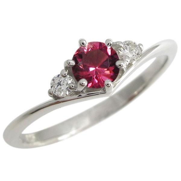 注目の プラチナ V字 指輪 シンプル ルビー 一粒 リング, パワーストーンプレミアム d6149216