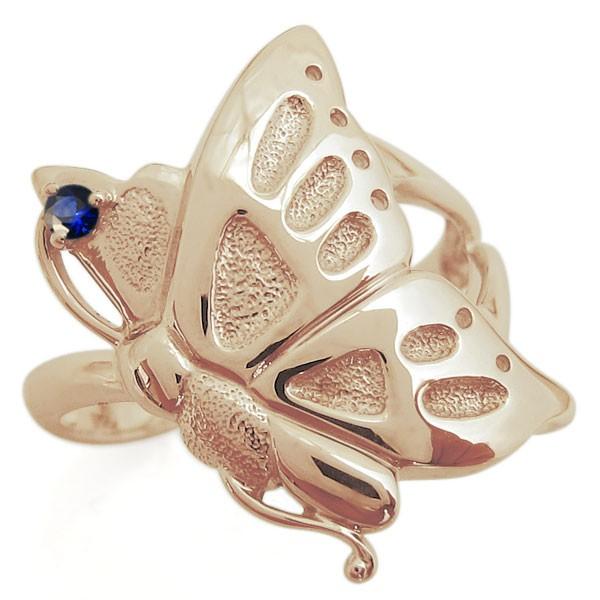 高価値セリー バタフライリング サファイア 蝶 K18 指輪, mofnof fdb45423