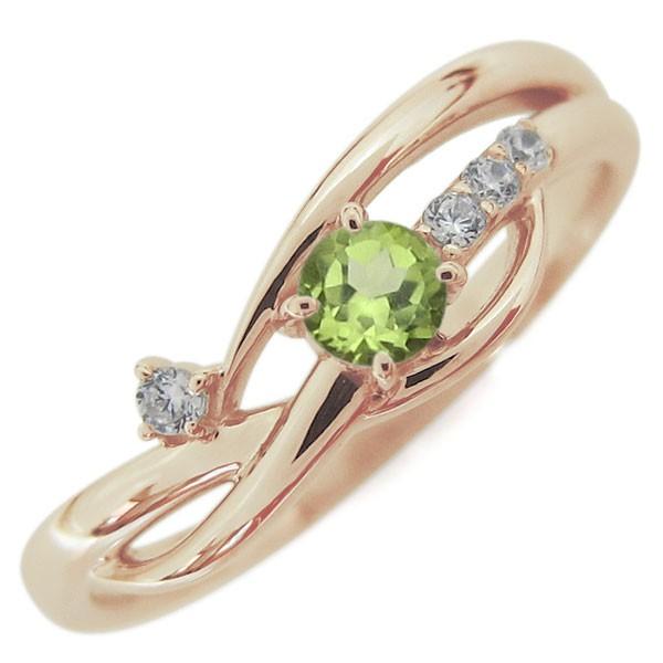 【あすつく】 ペリドットリング 指輪 シンプル レディース ライン 指輪 シンプル 誕生石 ライン 18金, 久万高原町:c424ec67 --- chevron9.de