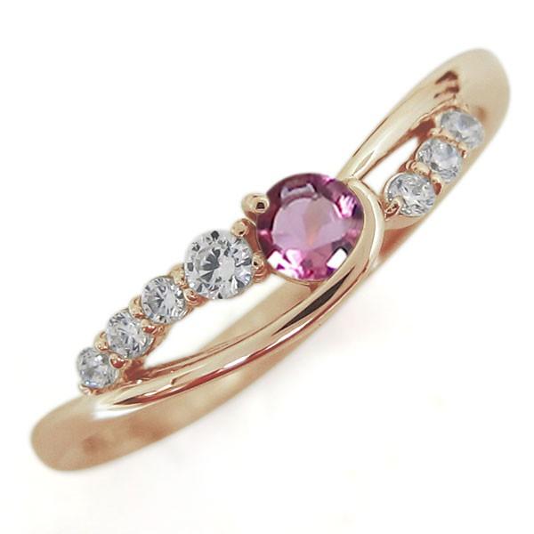選ぶなら ピンクトルマリンリング 指輪 誕生石 10金 シンプルリング, メルブック 7f603d1b