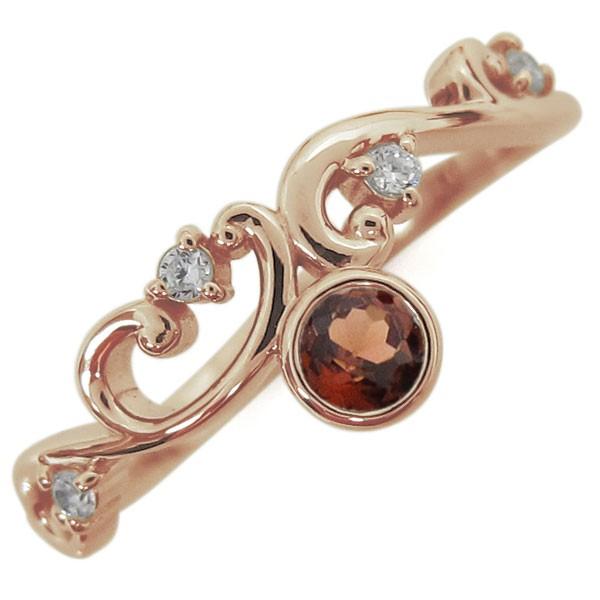 輝く高品質な 1月誕生石 指輪 ガーネット 1月誕生石 唐草リング レディース ガーネット 指輪 K18, 寝ころん太くん:2d51c357 --- chevron9.de