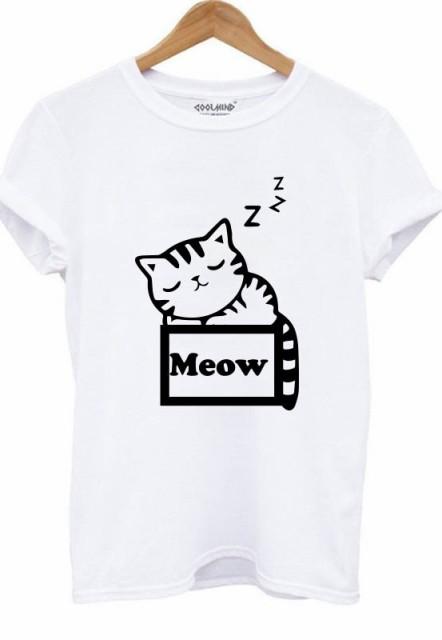 送料無料猫 猫柄 Tシャツ レディース かわいい キャラクター イラスト