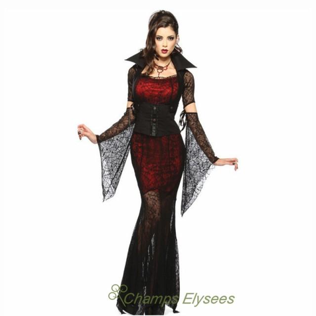 セクシー欧米風巫女バンパイアコスプレハロウィンレディース衣装 ワンピースイベント衣装ステージ服演劇学園祭クリスマス