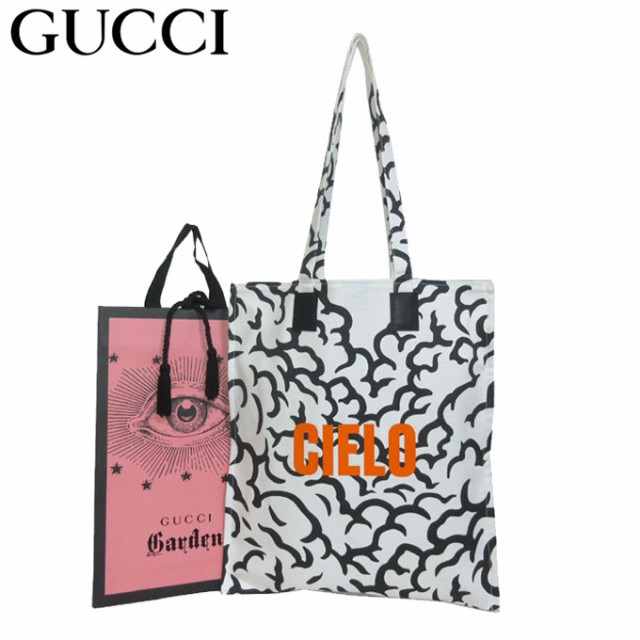 purchase cheap f4b52 797b0 ●GUCCI Garden 限定品・専用紙袋付き● グッチ ガーデン トートバッグ 522707 キャンバス CIELO 空 / 天国 モチーフ  エコバッグ(マチ無|au Wowma!(ワウマ)